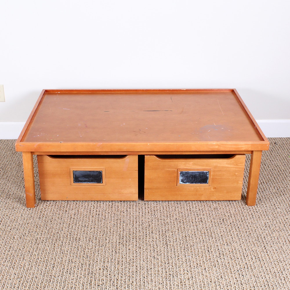 Pottery Barn Kidu0027s Activity Table With Rolling Storage Drawers ...