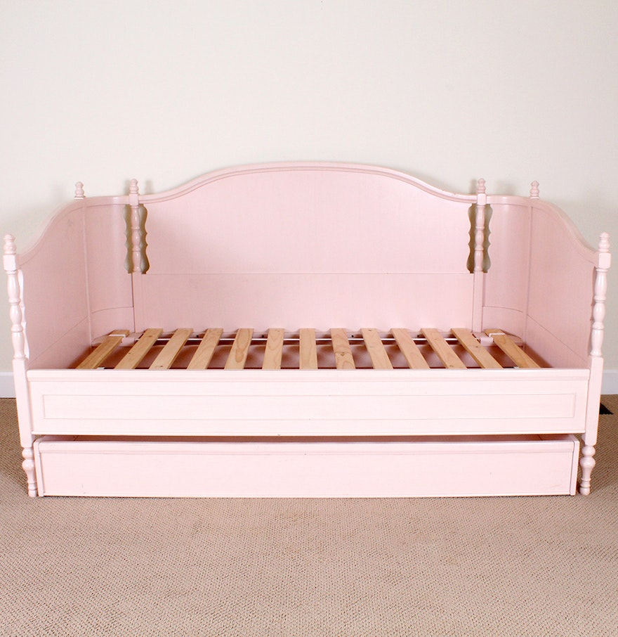 Pink Daybed With Trundle Bed From Pottery Barn Ebth