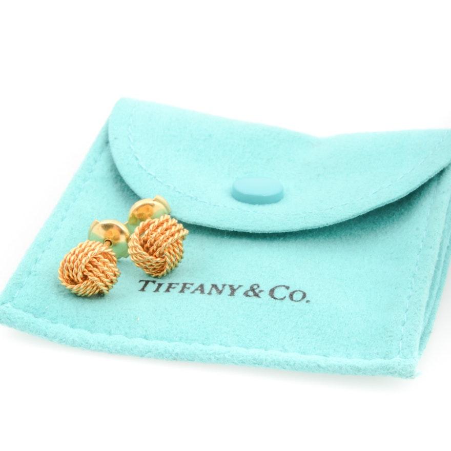 dace45a7f 18K Yellow Gold Tiffany & Co. Love Knot Earrings | EBTH