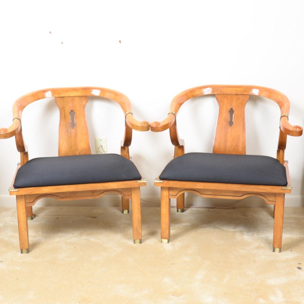 Pair Of Chinese Quanyi Horseshoe Chairs ...