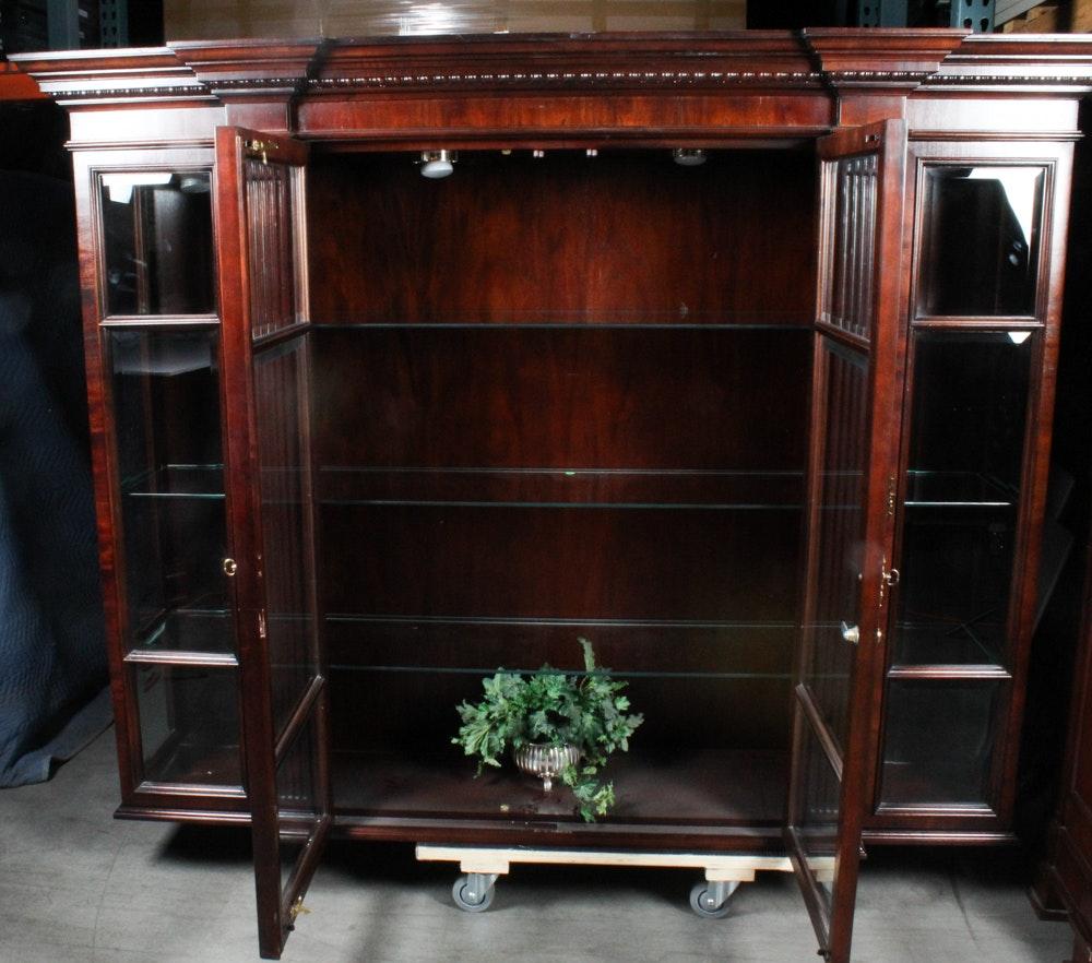 Century Furniture Mahogany Two-Piece China Cabinet