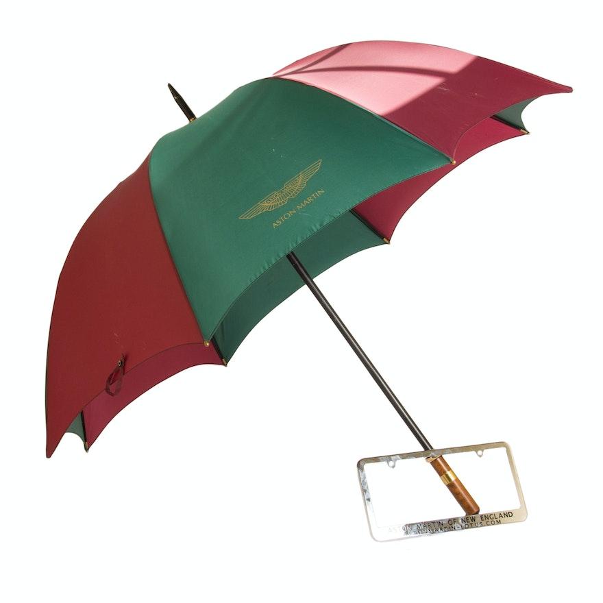 Aston Martin Umbrella And License Plate Protector