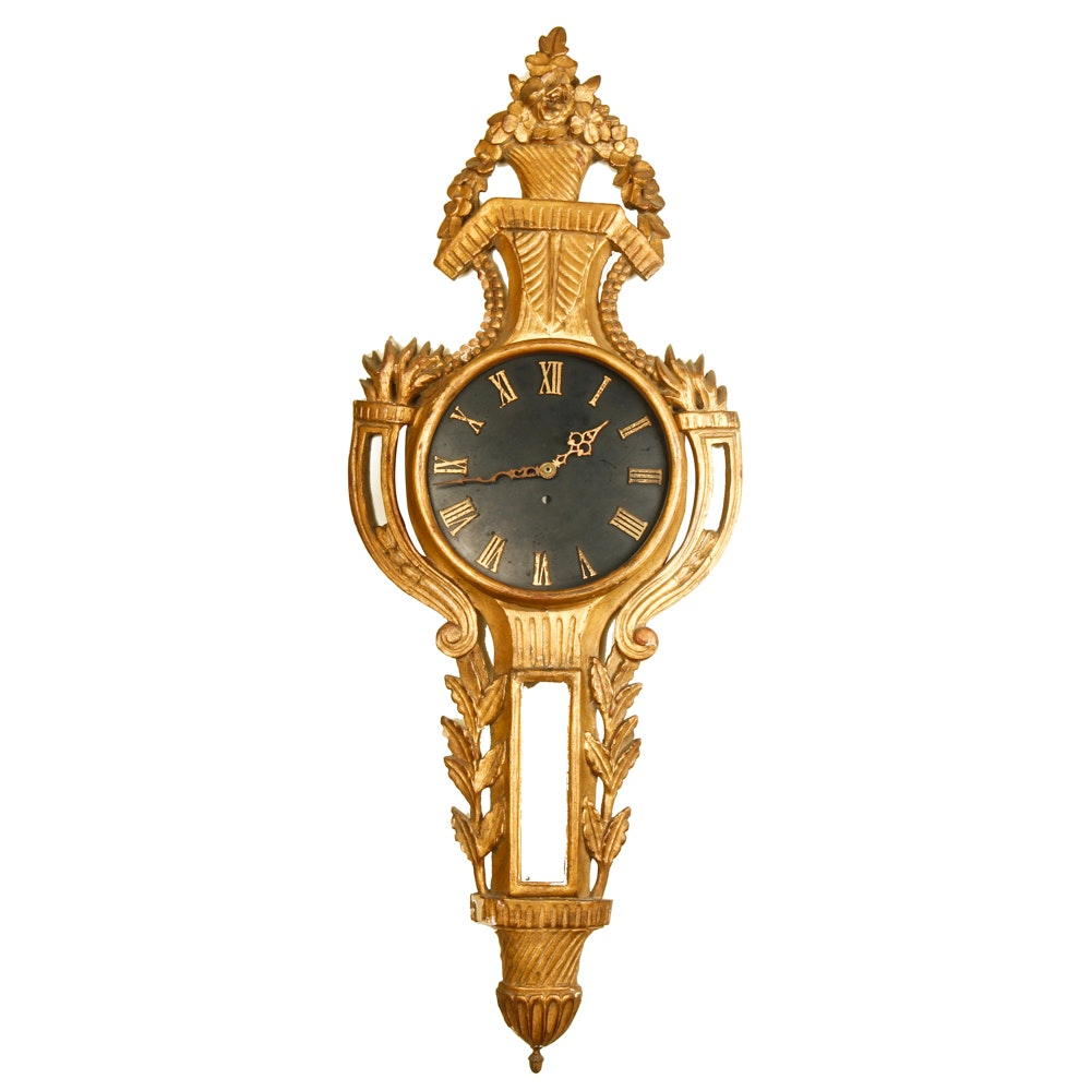 Vintage Giltwood Wall Clock