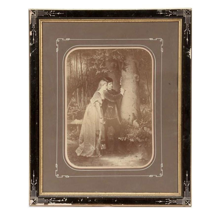 Antique Photogravure in Art Deco Frame : EBTH