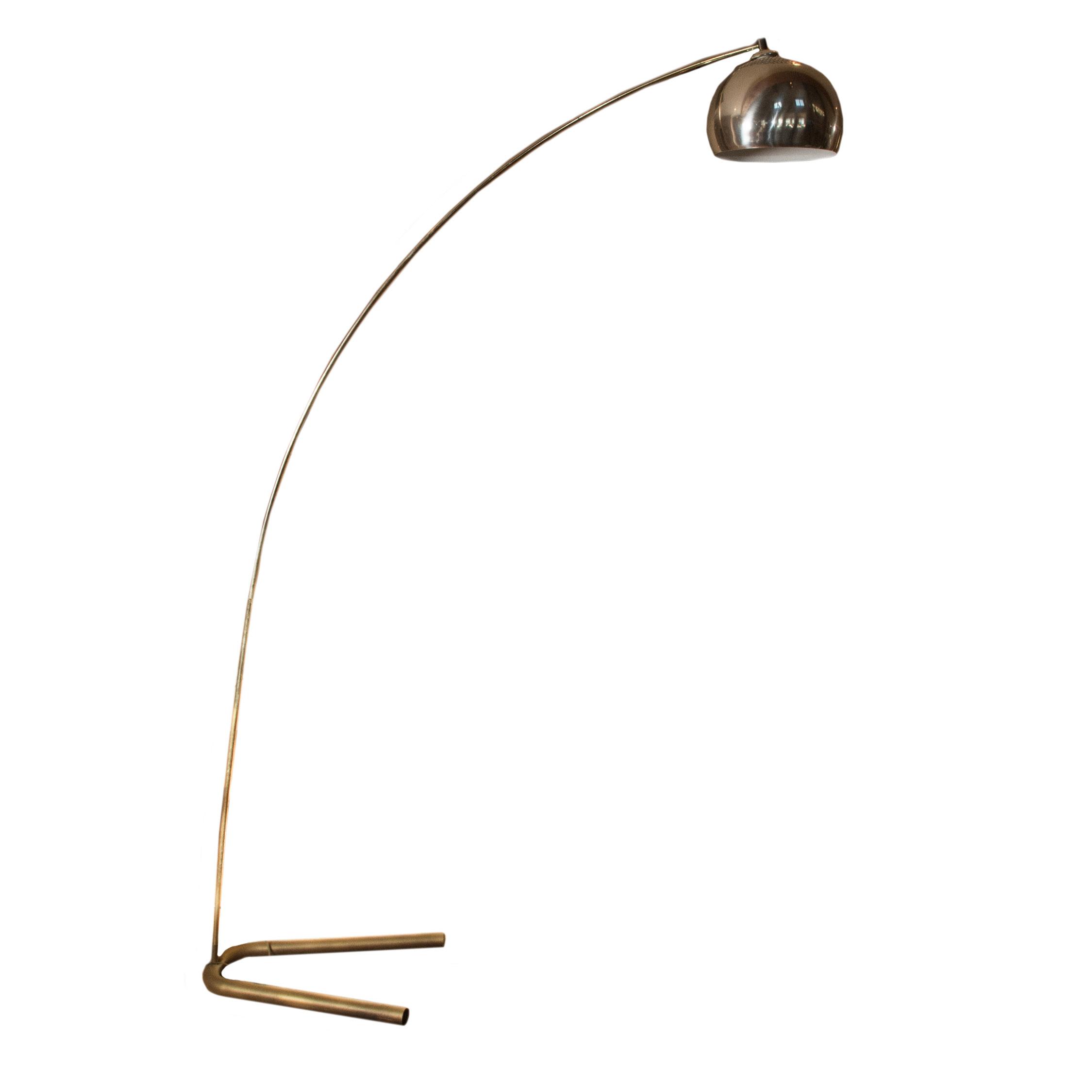 ^ Vintage Mid entury Modern Brass rco Lamp : BH