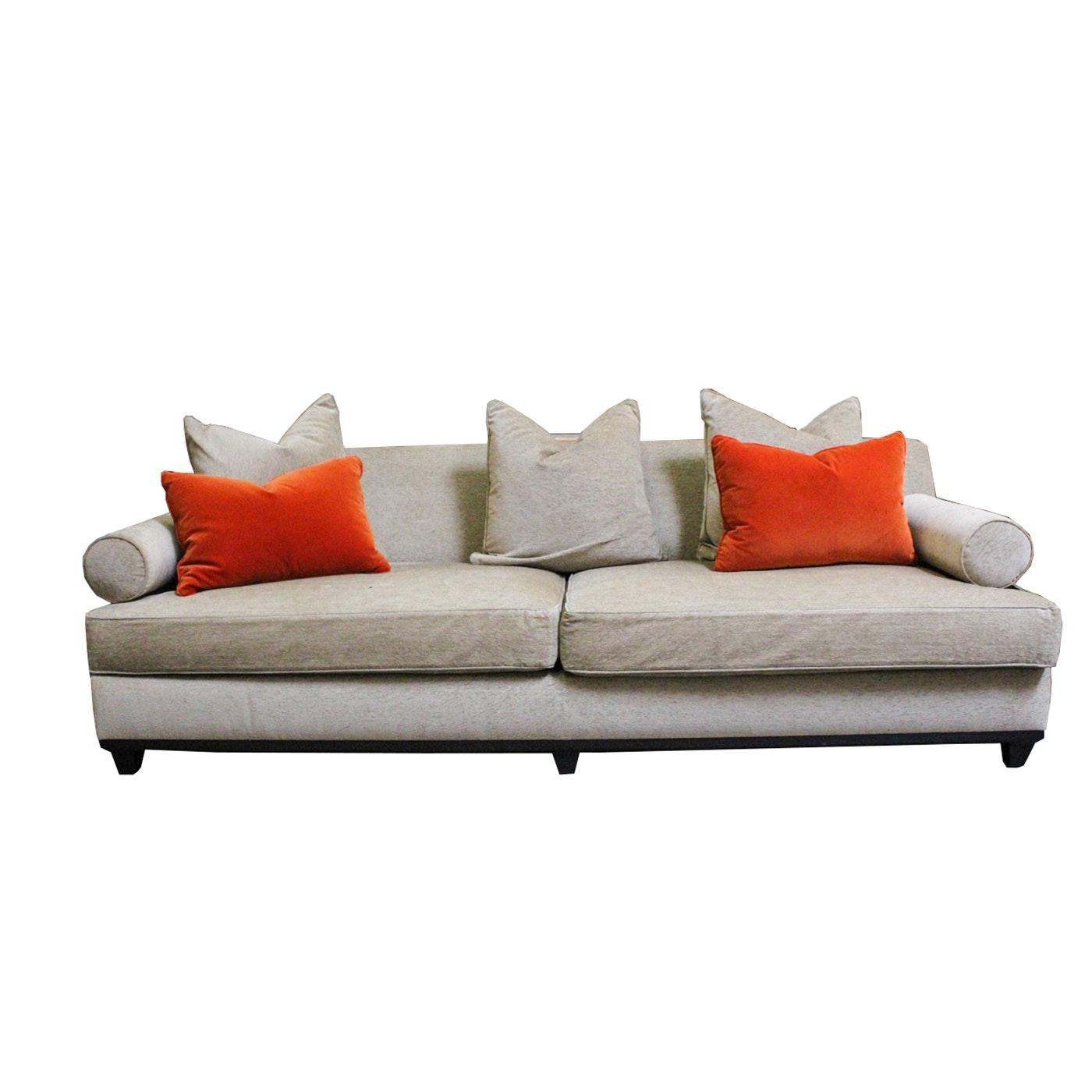 Armless Sofa Belgian Petite Roll Arm Upholstered Armless Sofa