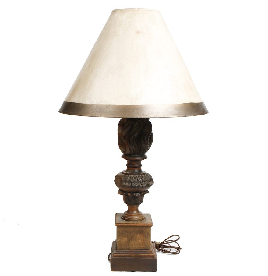 Antique wood table lamps - Antique Carved Wood Table Lamp