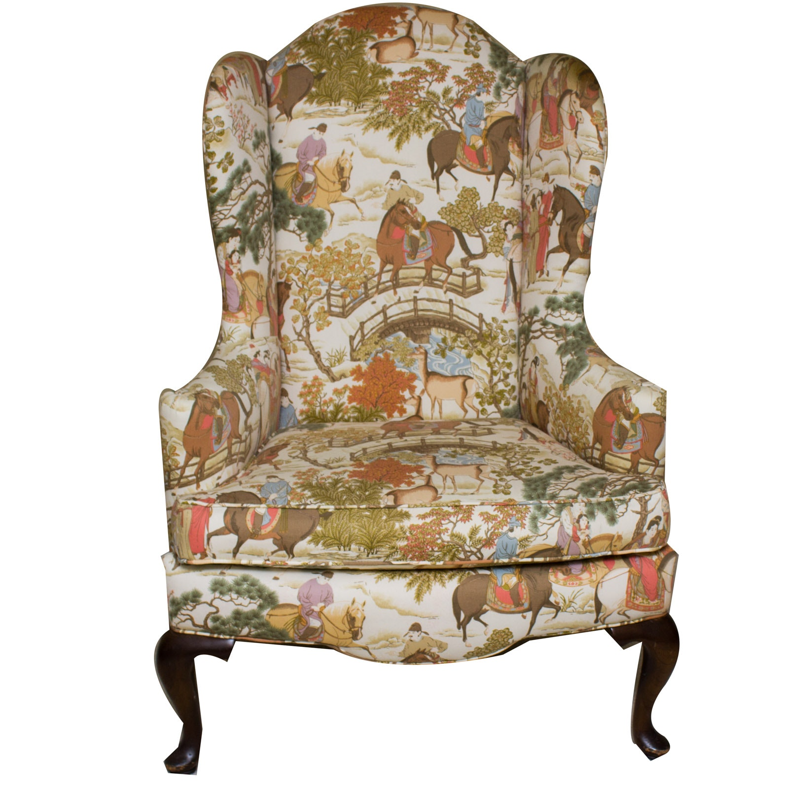 chinese inspired wingback chair