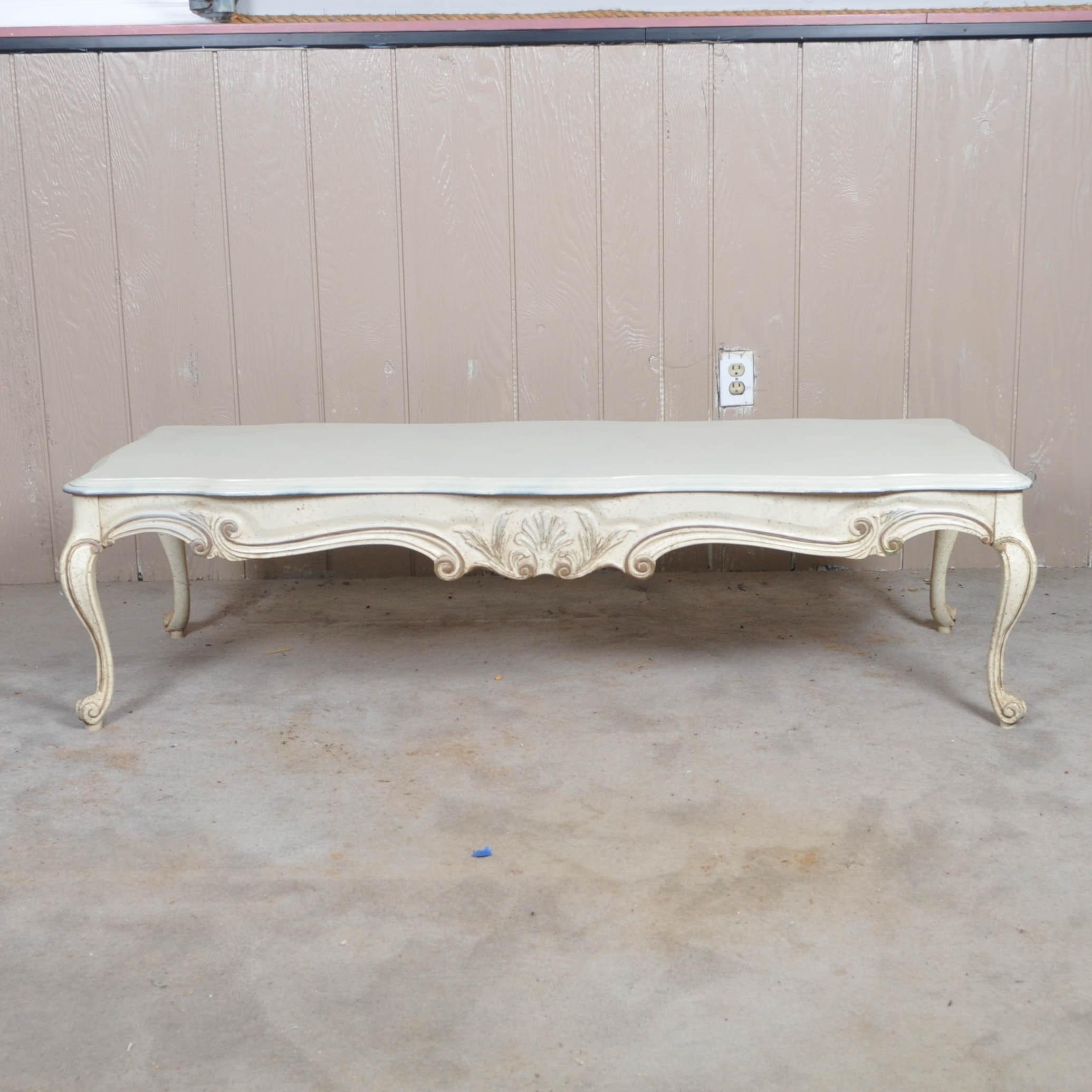 Gordon S Inc White Queen Anne Style Coffee Table Ebth