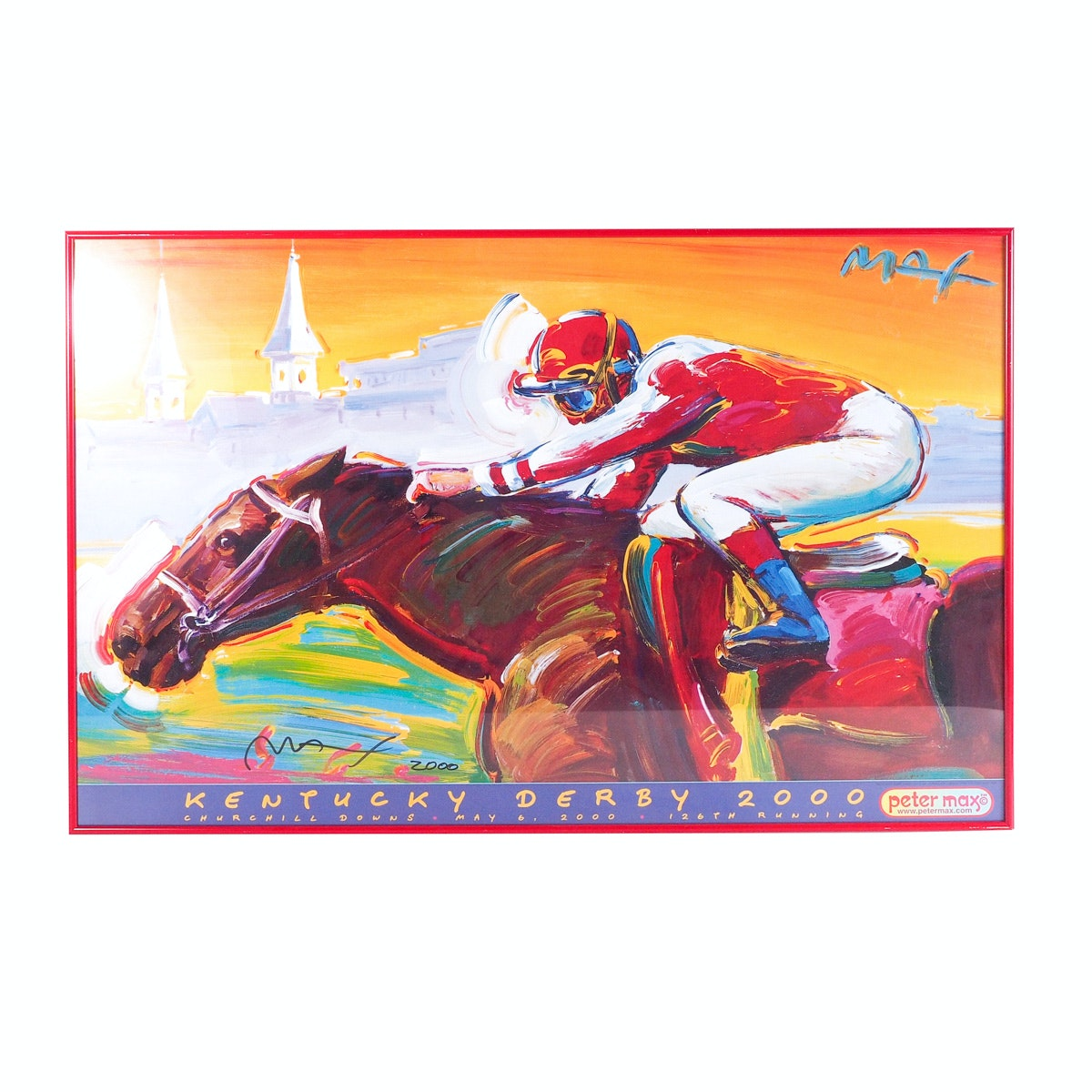 Peter Max Signed Poster for the 2000 Kentucky Derby