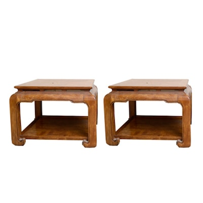 Oak Coffee Table And Two End Tables Ebth