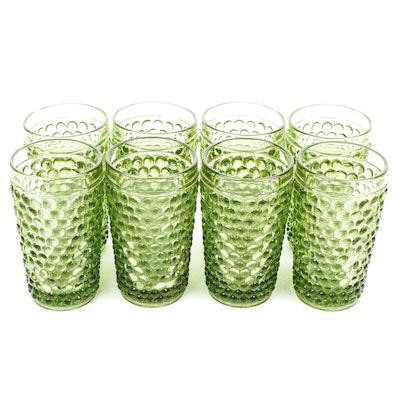 Vintage Green Bubble Patterned Glassware