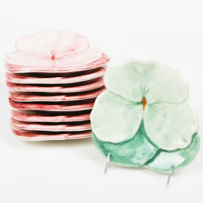 Italian Pansy Plates