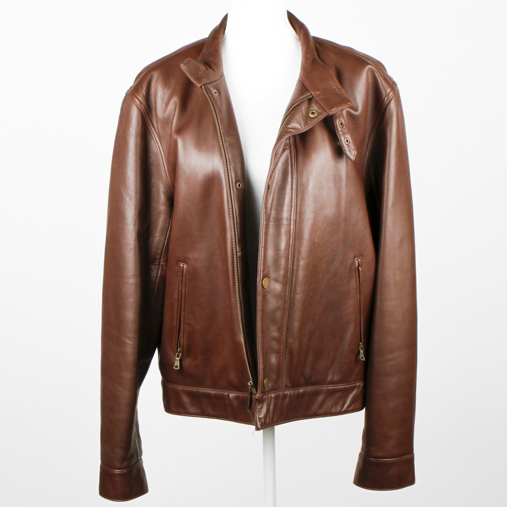 Men's Polo Leather Jacket