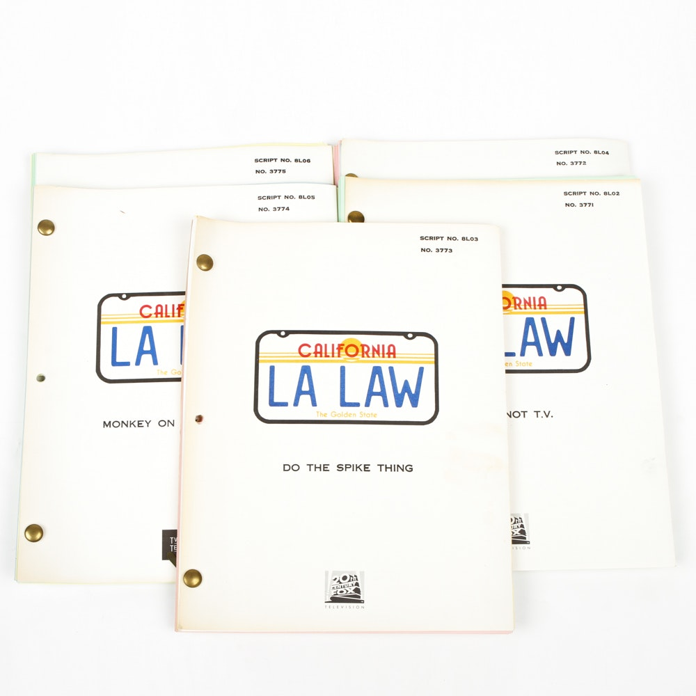 "Group of ""LA Law"" Scripts"