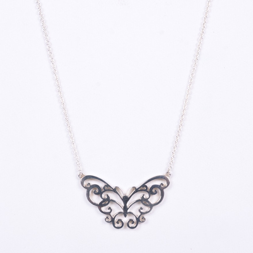 2d9b8e734 Tiffany & Co. Enchant Sterling Silver Butterfly Necklace | EBTH