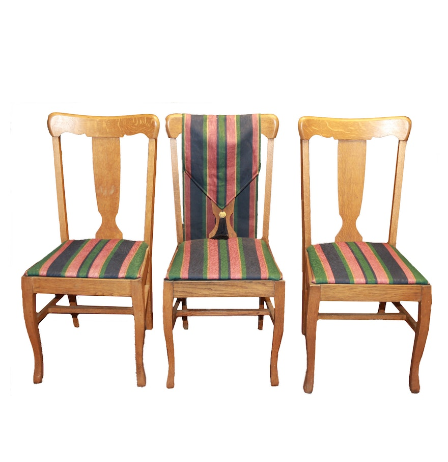 Early 20th Century Oak Side Chairs EBTH