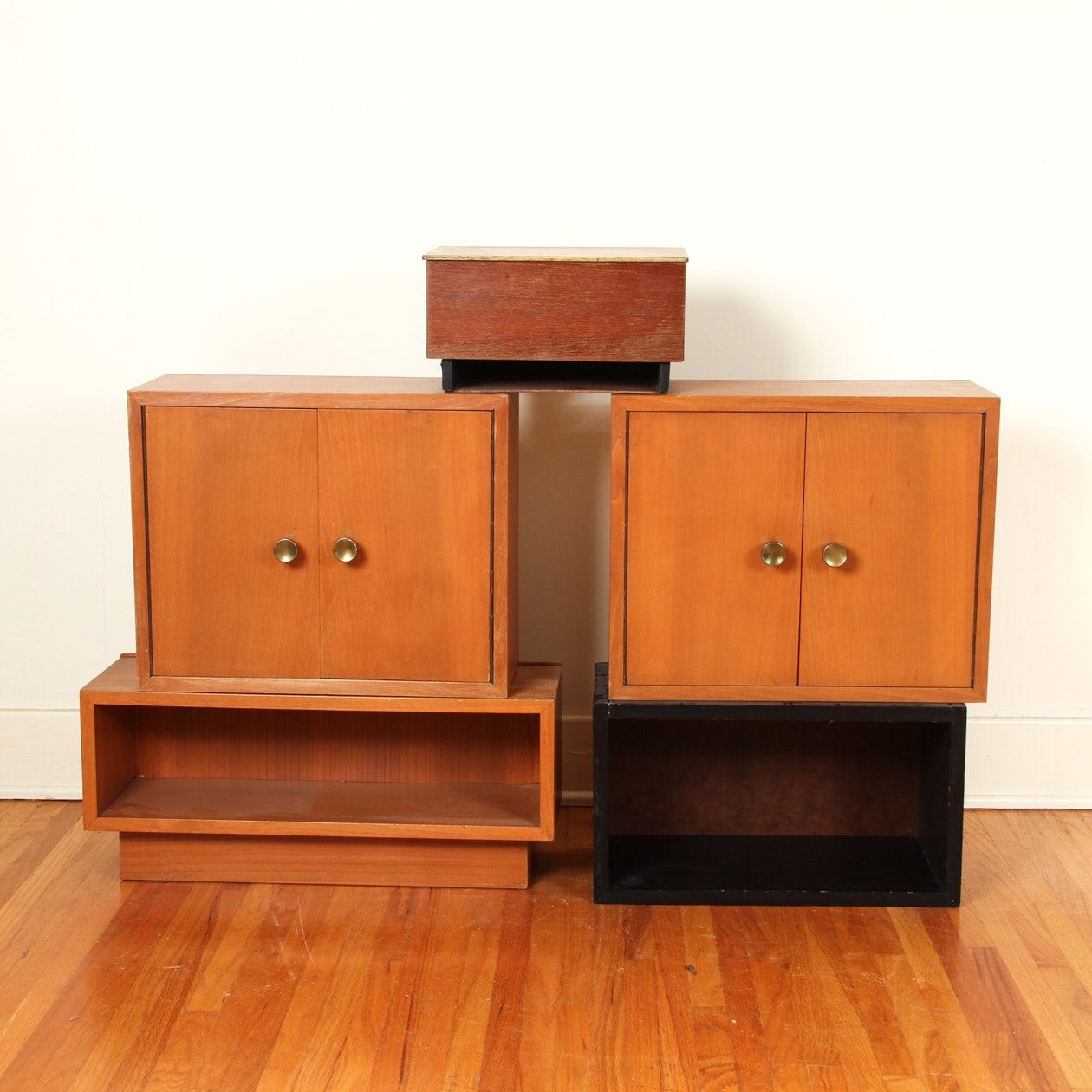 Group of Mid Century Modern Cabinets and Shelves