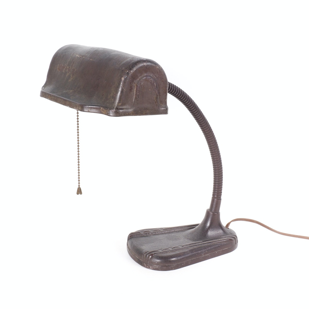Mid Century General Lamps Metal Banker Desk Lamp ...