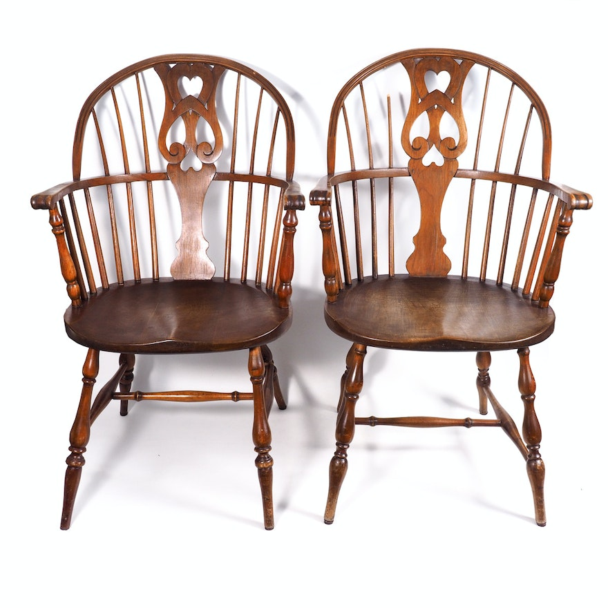 karpen brothers windsor style chairs ebth