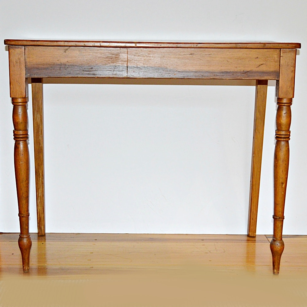 Antique Shaker Style Poplar Wall Table