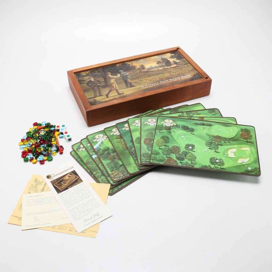 """""""Box of Golf"""" Wooden Golf Board Game"""