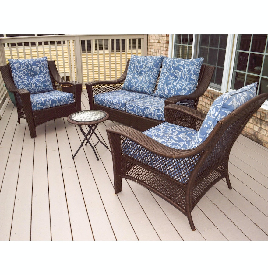 Four piece better homes and gardens patio furniture set ebth Better homes and gardens patio furniture