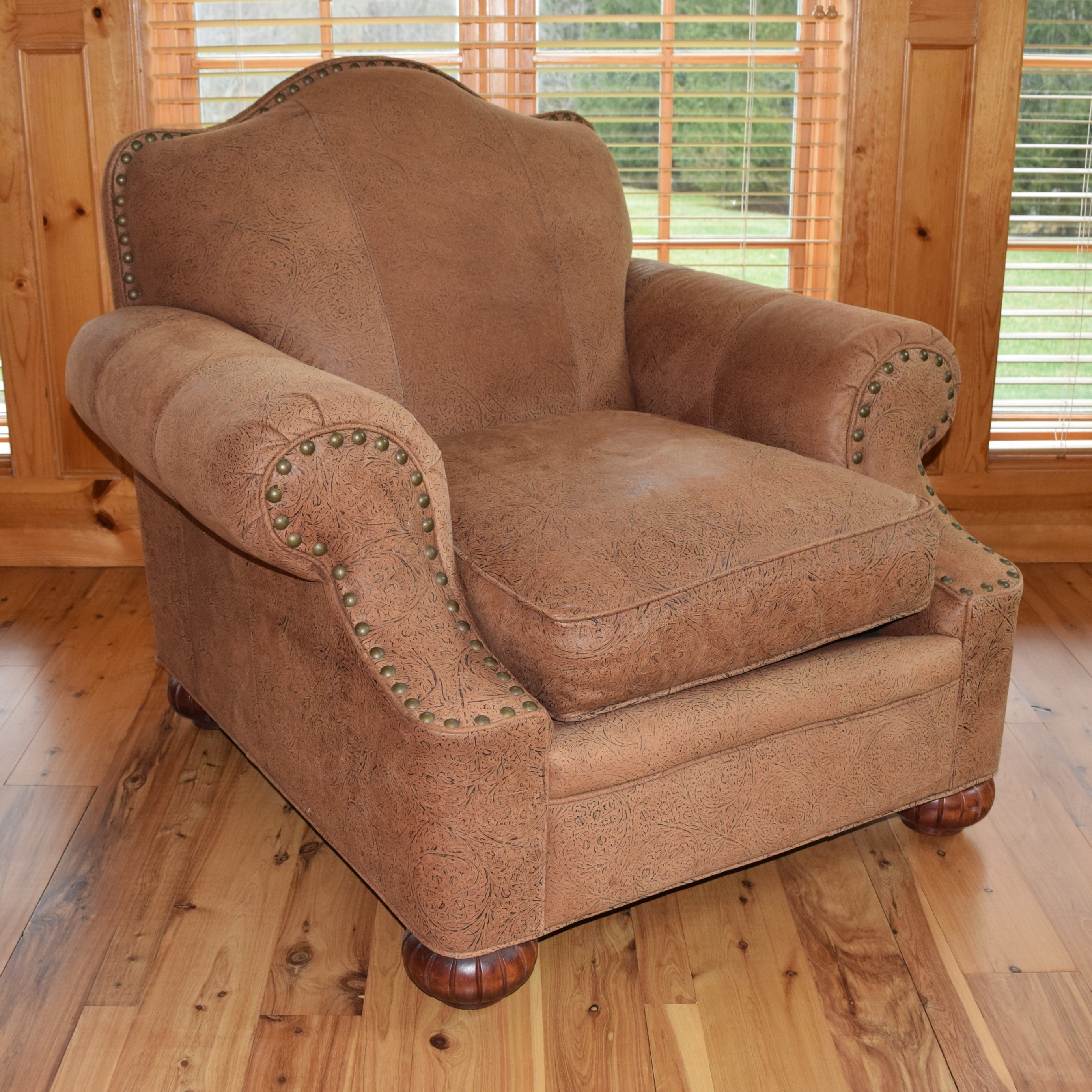 Bob Timberlake Leather Armchair With Nail Head Trim ...