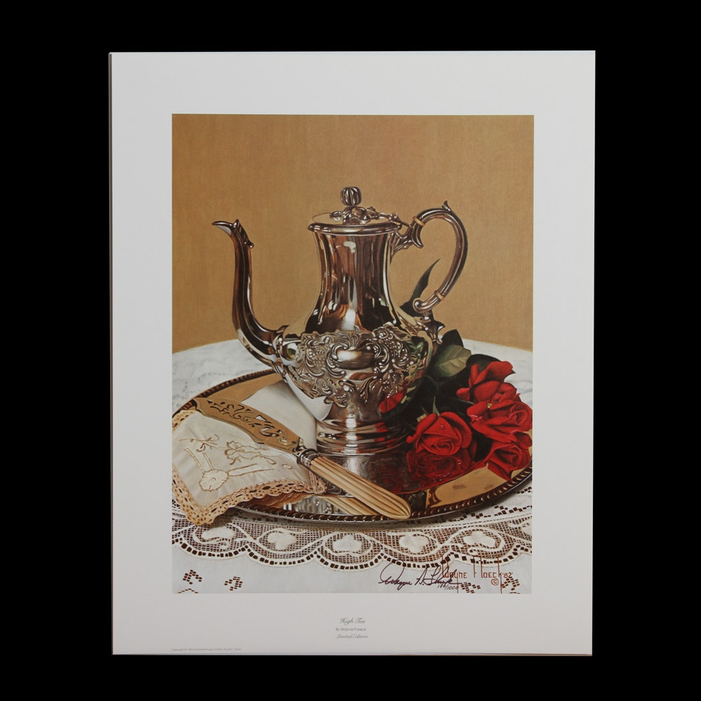 "Wayne Floeck Limited Edition Offset Lithograph ""High Tea"""
