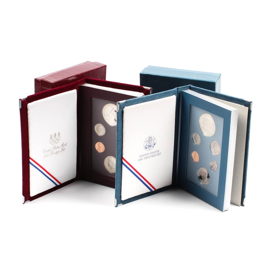 US Mint Prestige Sets from 1987 and 1988