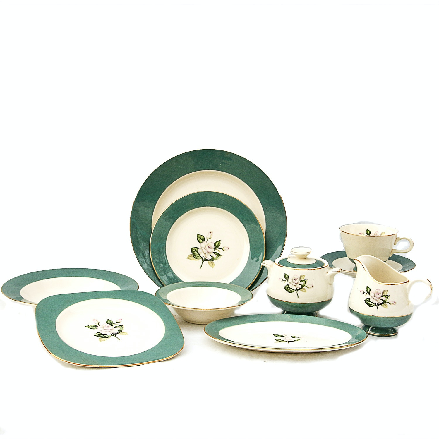 Fifty-Nine Piece Set of Century Service Corporation Semi Vitreous Dinnerware ...  sc 1 st  EBTH.com & Fifty-Nine Piece Set of Century Service Corporation Semi Vitreous ...
