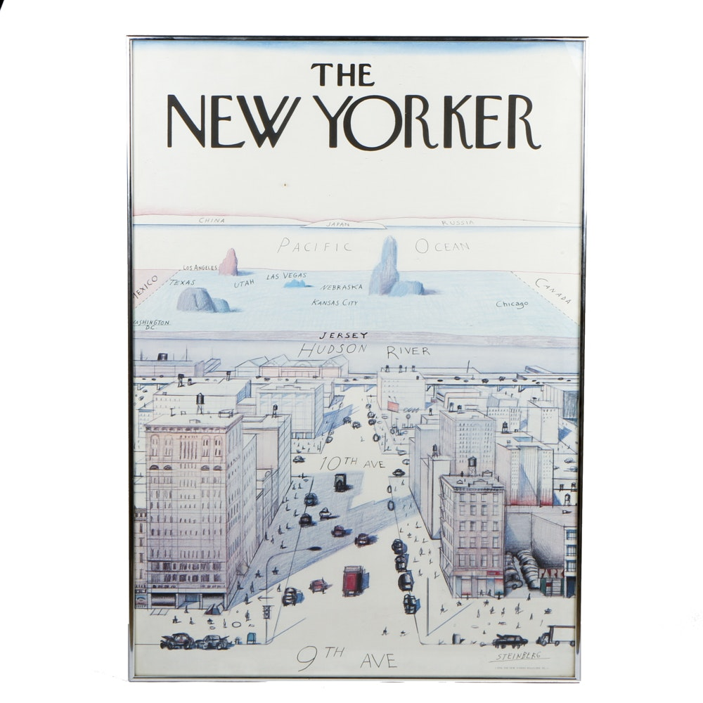 "Saul Steinberg ""The New Yorker"" Poster"