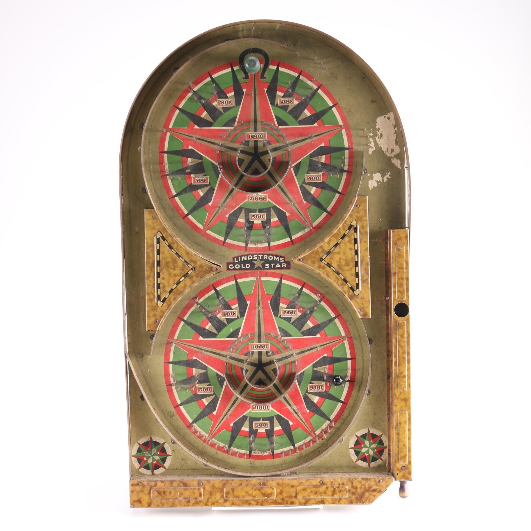 "Vintage Lindstrom ""Gold Star"" Pinball Machine"