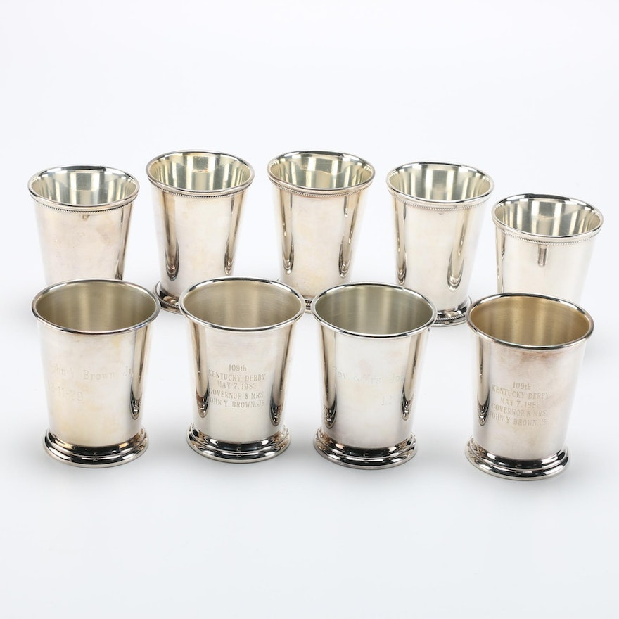 Set Of Silver Plated Mint Julep Cups Ebth