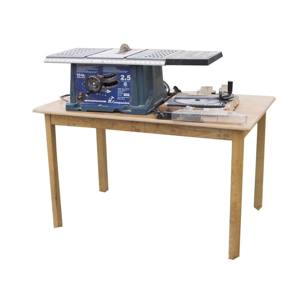 Charming Companion 10 Inch Table Saw With Table ...