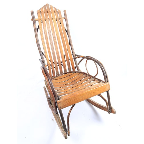Adirondack Style Bentwood And Twig Rocking Chair ...