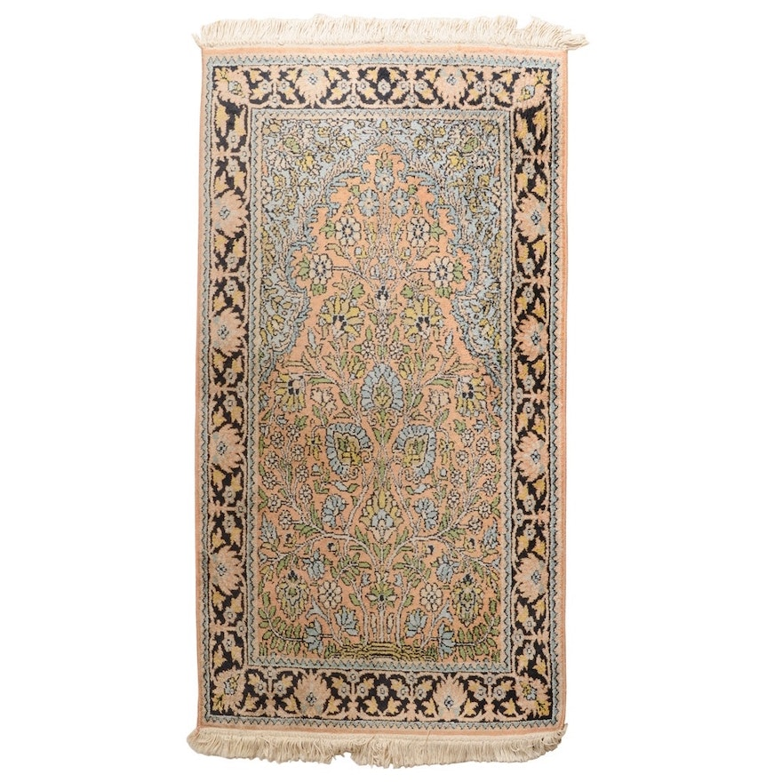 Hand Knotted Indo Persian Obeetee Wool Area Rug Ebth: Hand Knotted Kerman-Style Prayer Rug : EBTH
