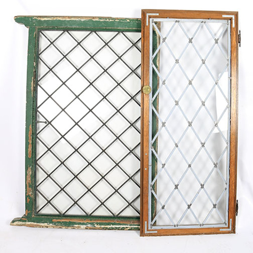 pair of vintage lattice window panels ebth