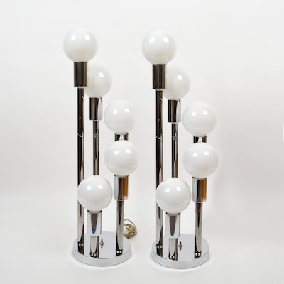 Pair of Mid Century Modern Atomic Style Lamps