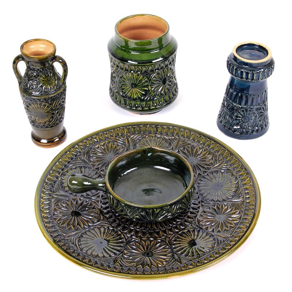 Tunisian Pottery Set ...  sc 1 st  EBTH.com & Tunisian Pottery Set : EBTH