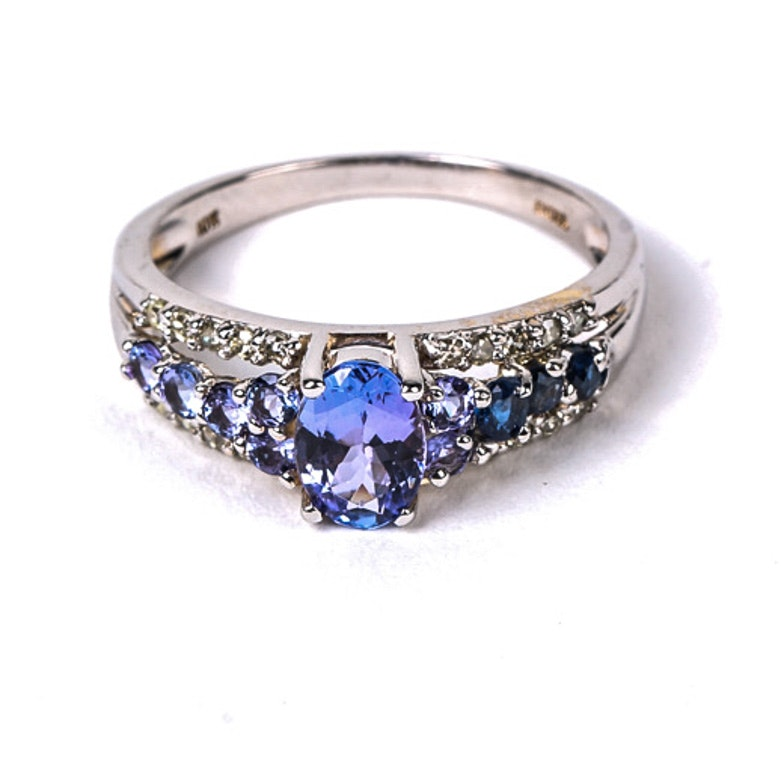 10k White Gold, Tanzanite, Sapphire, And Diamond Ring  Ebth. Marquise Diamond Bracelet. Tube Beads. Ladies Anklets. Platinum Diamond Engagement Rings. Navigator Watches. Anklet Jewelry. Skull Engagement Rings. Jewlery Chains