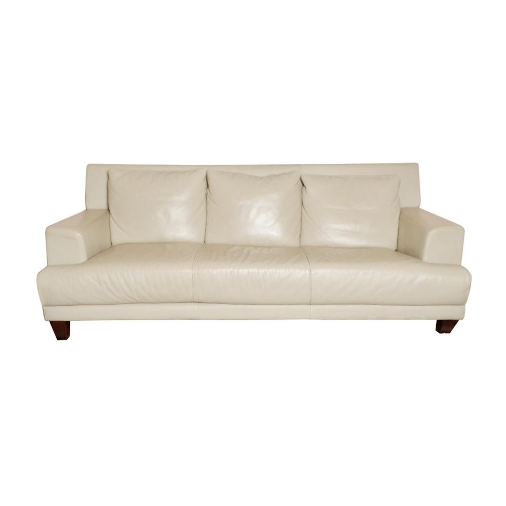 nicoletti italian leather sofa