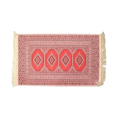Power Loomed Art Silk Jaldar Bokhara Accent Rug