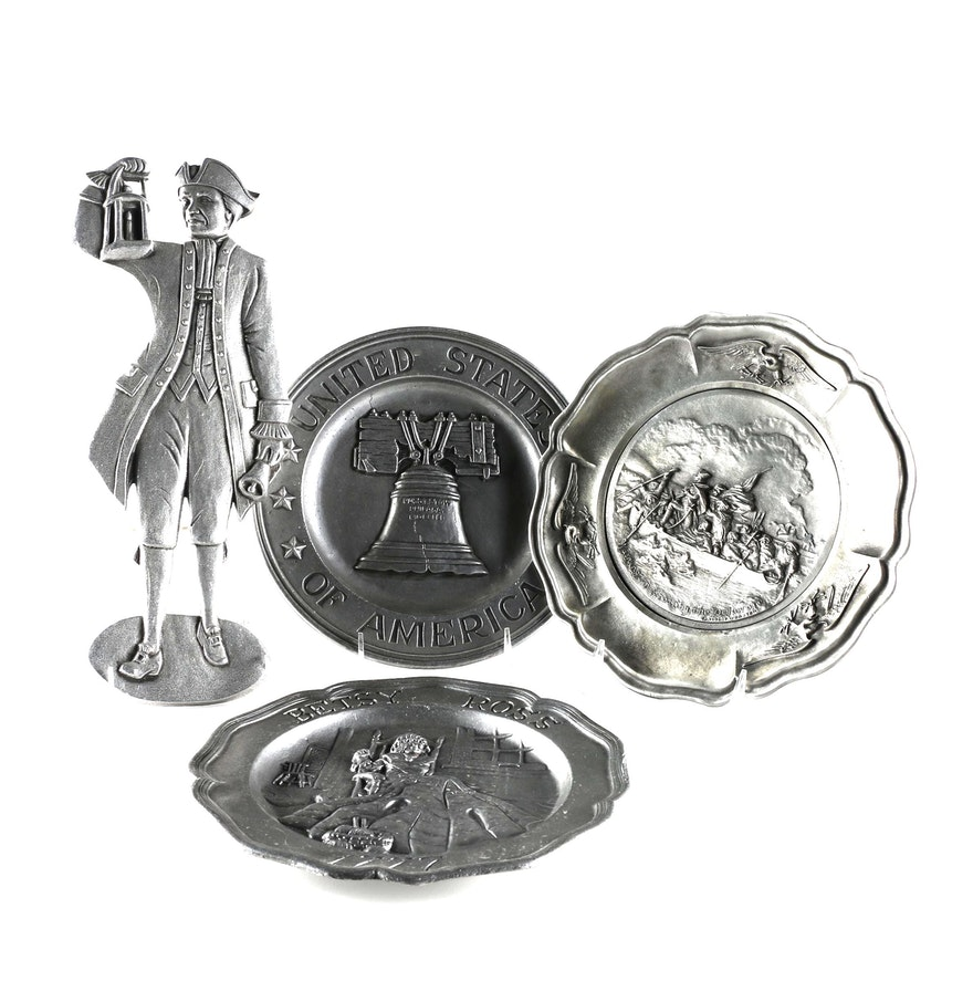Group of pewter wall decor ebth group of pewter wall decor amipublicfo Choice Image