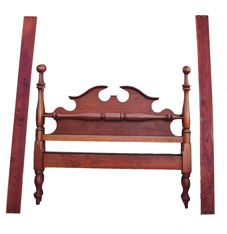 vintage cherry queen bed frame