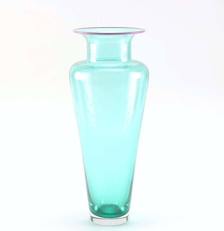 modern art glass vase by young  constantin  ebth - modern art glass vase by young  constantin
