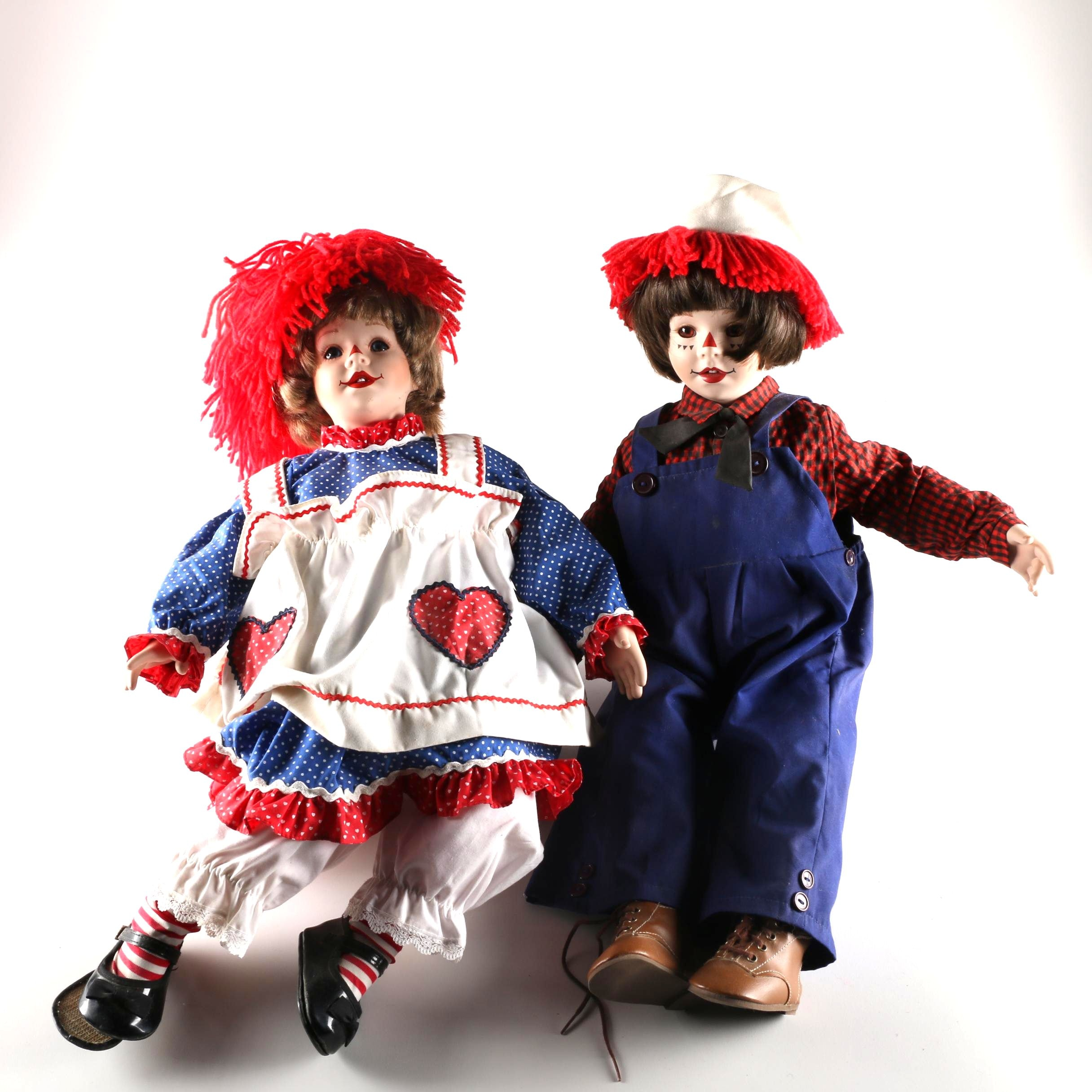 raggedy ann and andy dolls by kelly rubert ebth