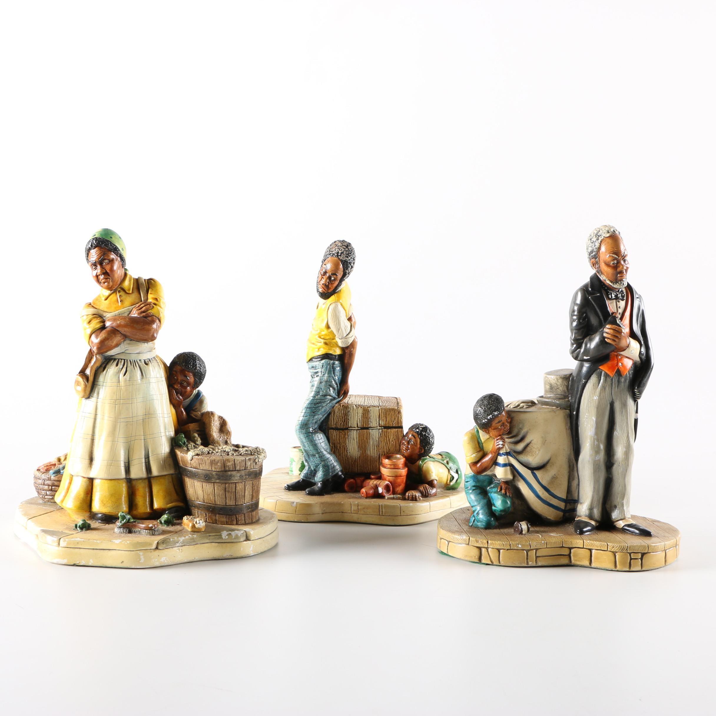 Naturecraft Chalkware Figurines Circa 1980
