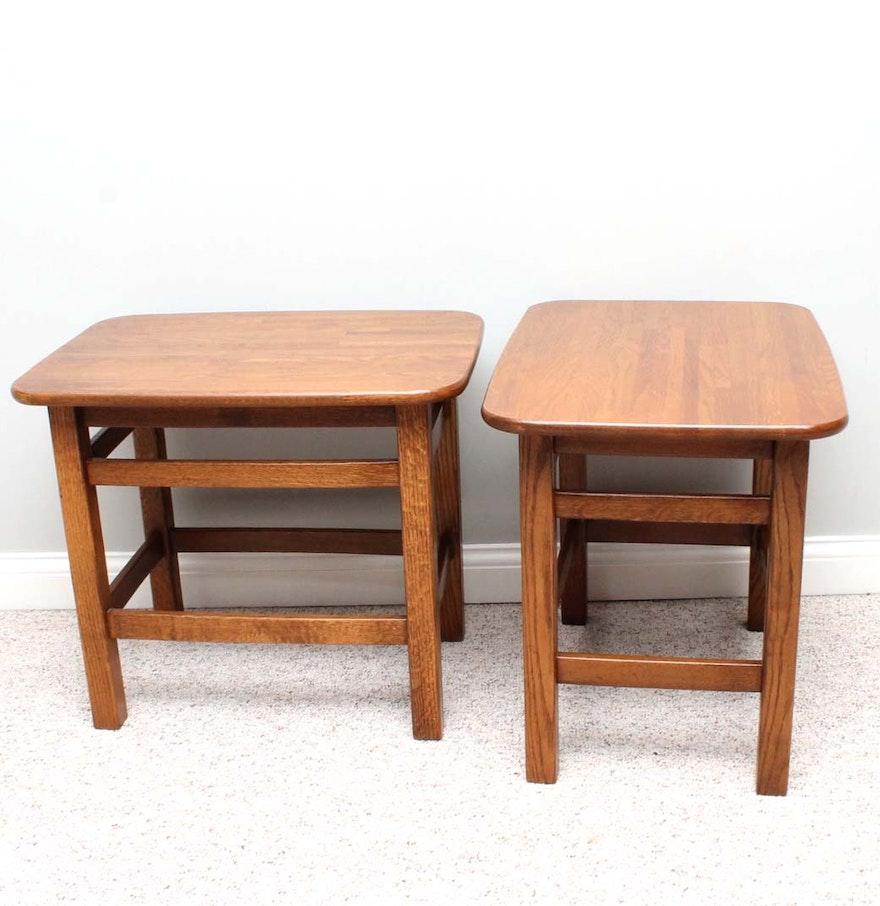 Davis cabinet solid oak jack daniel barrel collection end tables geotapseo Images