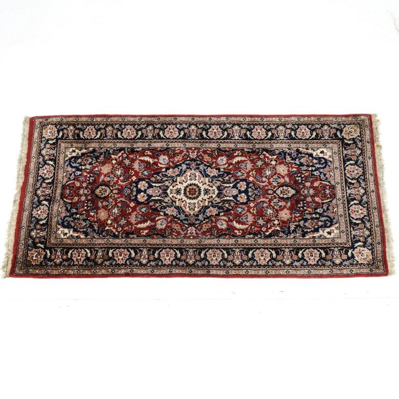 Persian Hand Knotted Kashan Silk And Wool Area Rug Ebth: Persian Machine Made Imitation Silk Area Rug : EBTH